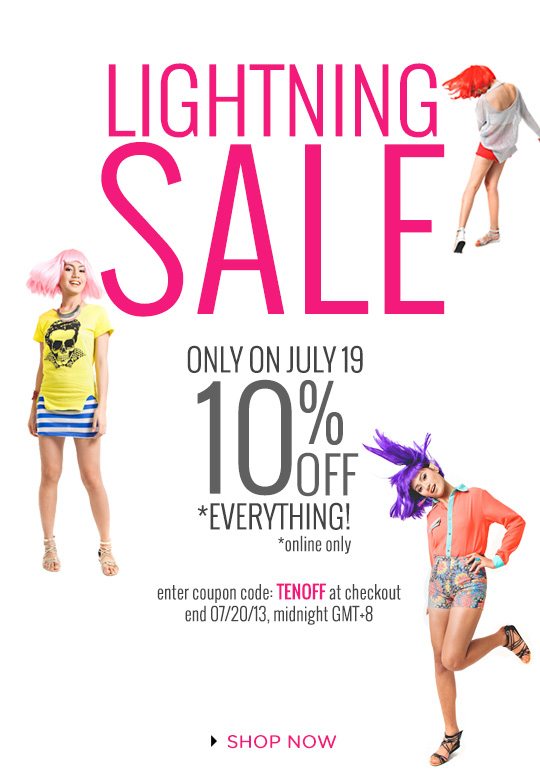 Lightning Sale at SHOPWAGW.com