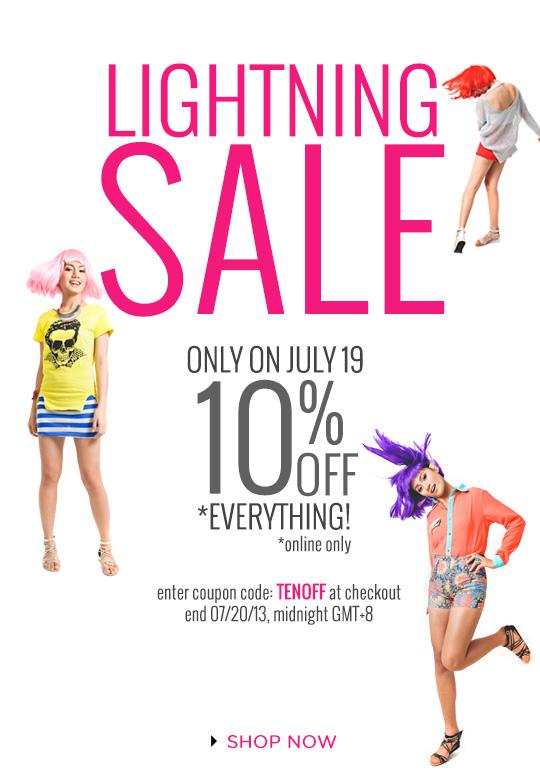 Lightning Sale at SHOPWAGW.com